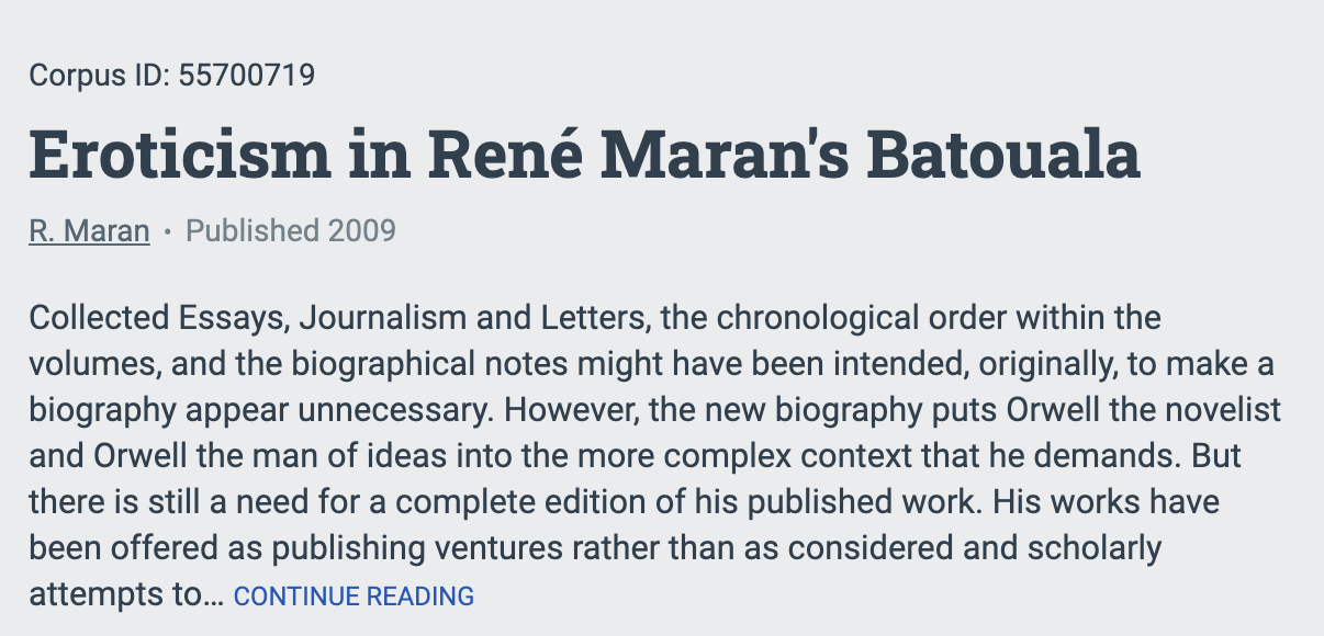 Eroticism in Rene Maran's Batouala – cliquer sur Journals.lib.unb.ca