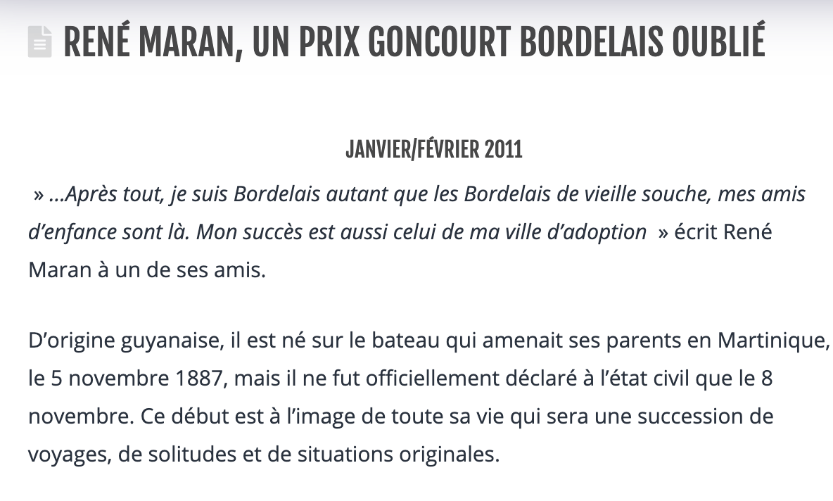 Article écrit par Jacqueline Blanchard Prix Goncourt Bordelais