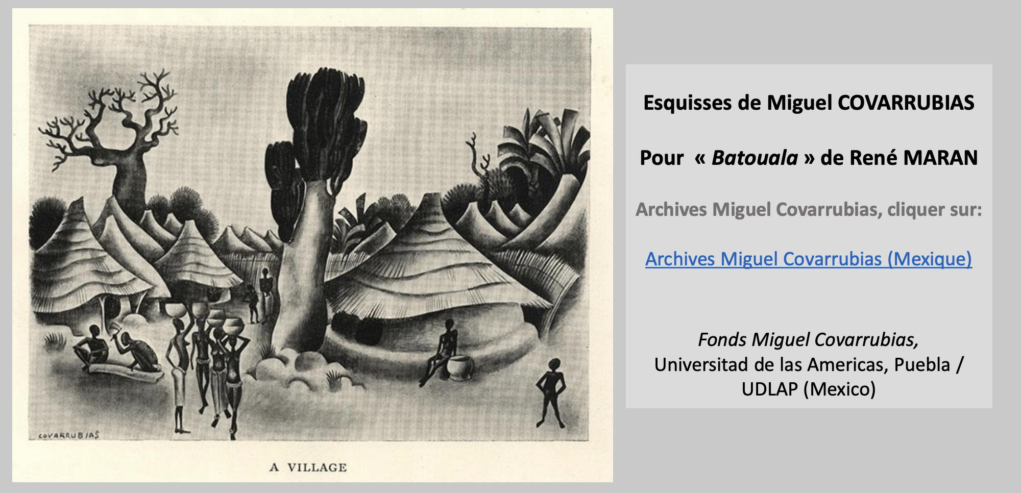 Esquisses De Miguel COVARRUBIAS1, René Maran