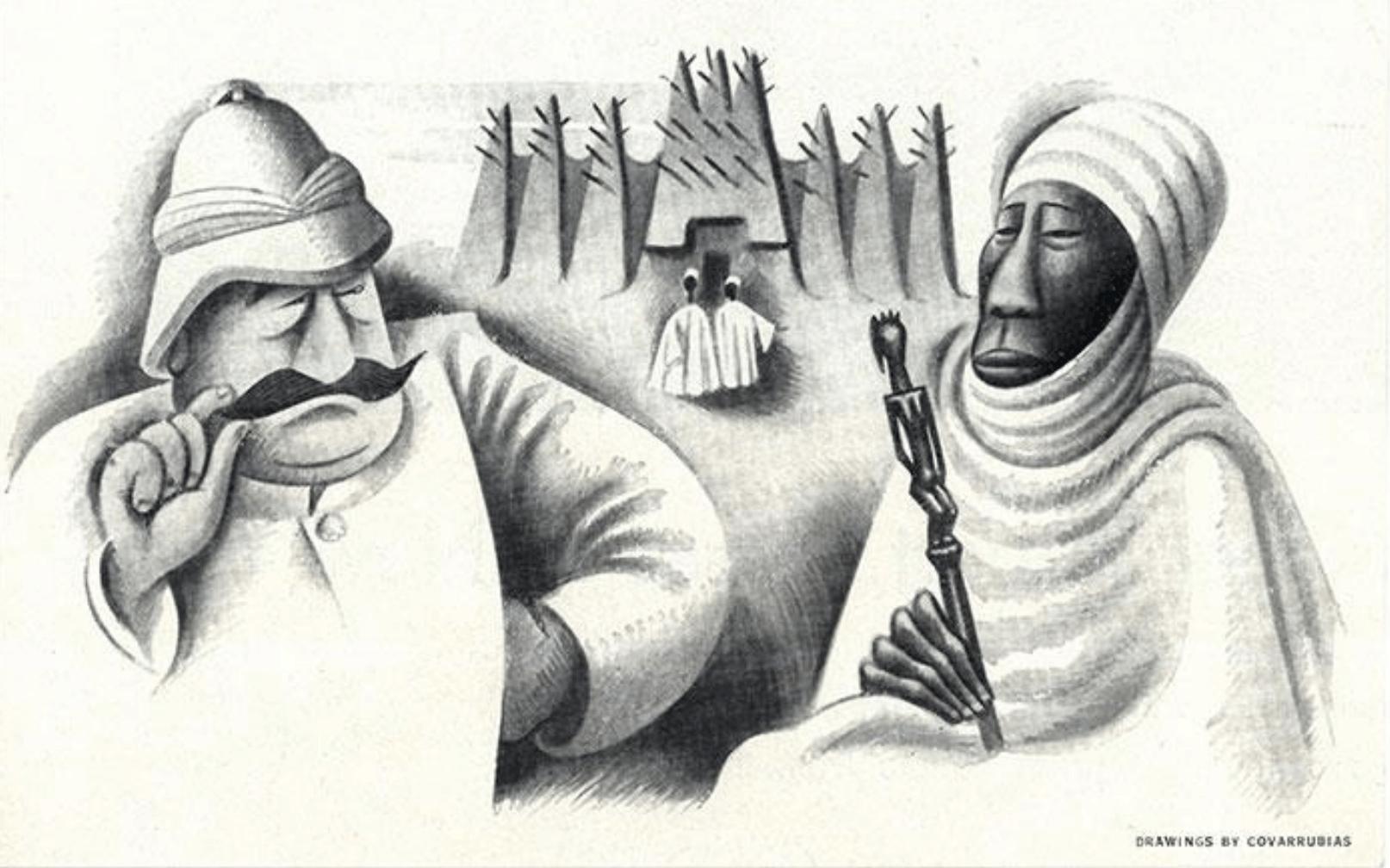 Esquisses De Miguel COVARRUBIAS7, René Maran