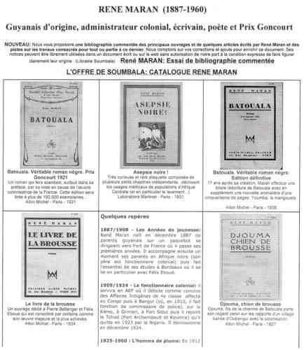 Loffre De Soumbala Catalogue Rene Maran Batouala 434x500, René Maran