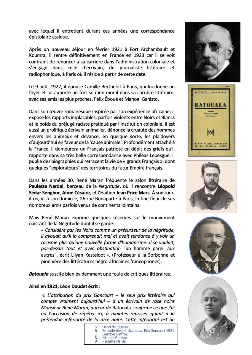 Rene Maran Biographie 2, René Maran