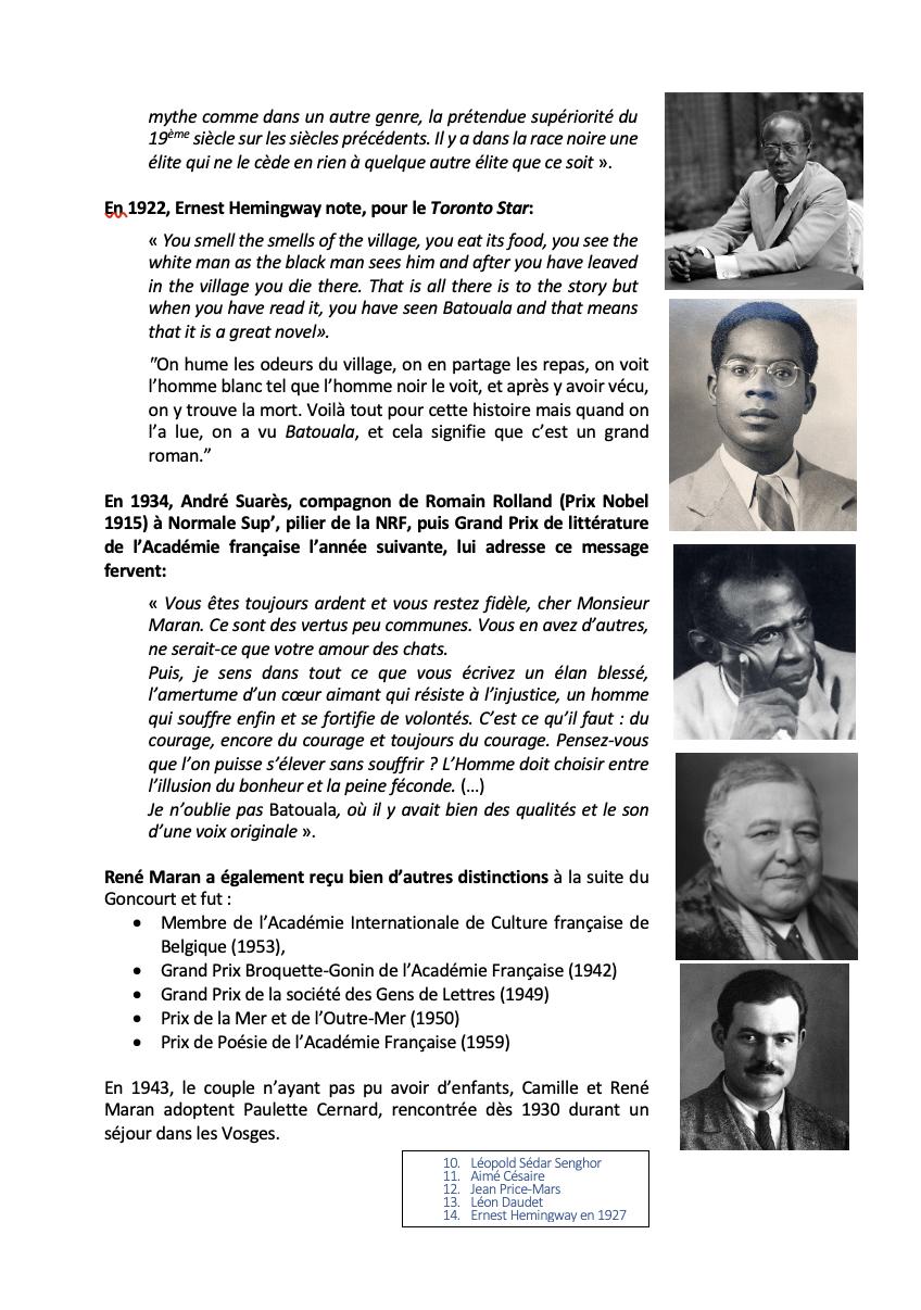 Rene Maran Biographie 3, René Maran